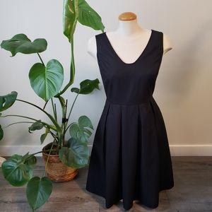 MEXX | Black Deep V Cut Black Fit and Flare Dress